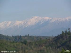 نمایی از جبههی شمالی سماموس، از سوستان ِ لاهیجان، ماه اسفند