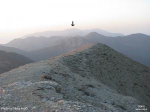 نمایی از جبههی جنوب شرقی سماموس، از قلهی کوه بلور، ماه شهریور