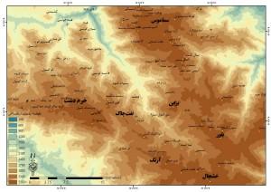 شکل۲: کوههای منطقه اشکور