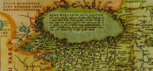 نقشه گیلان، ۱۵۷۰ م، ۹۴۹ هجری شمسی. طراحی شده توسط Abraham Ortelius، نقشهکش بلژیکی