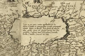 نقشه گیلان، ۱۵۹۰ م، دو سال پیش از سقوط خان احمد خان. طراحی شده توسط Daniel Keller.