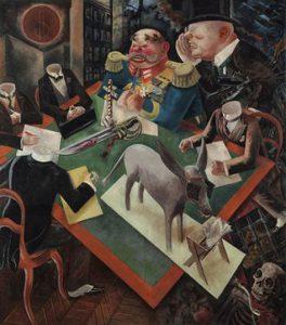 تابلو نقاشی «خورشیدگرفتگی» از جورج گروس (۱۹۲۶)